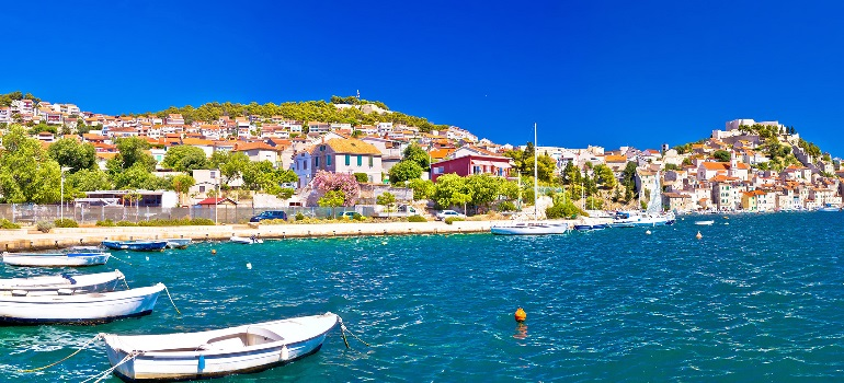 Miasto Szybenik w Chorwacji